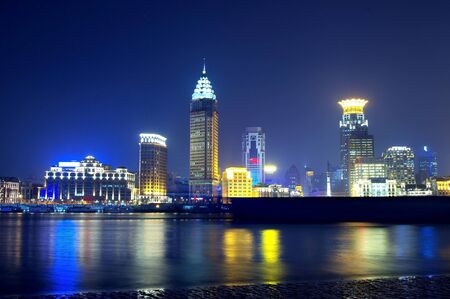 Beautiful night view of the Bund, Shanghai Stock Photo - 13369747