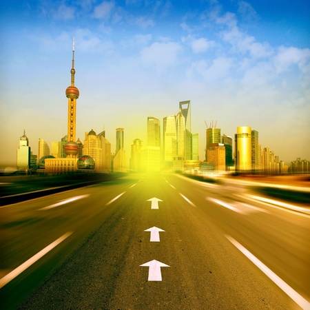 Leading to the highway of the future Stock Photo - 13731600