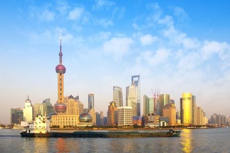 2012 in Shanghai skyline panorama