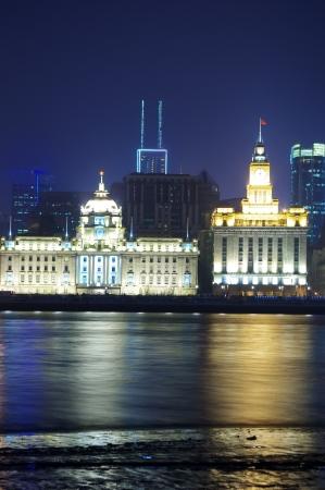 Beautiful night view of the Bund, Shanghai 2012 photo