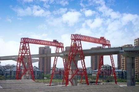 Construction of a bridge photo