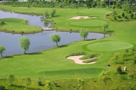 golfcourse: Golf courses and lakes