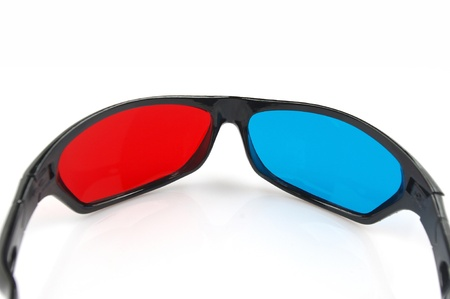 Red and blue glasses photo