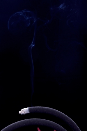 repellant: Mosquito-repellent incense smoke Stock Photo