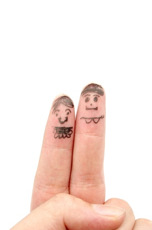 Finger paint couples photo