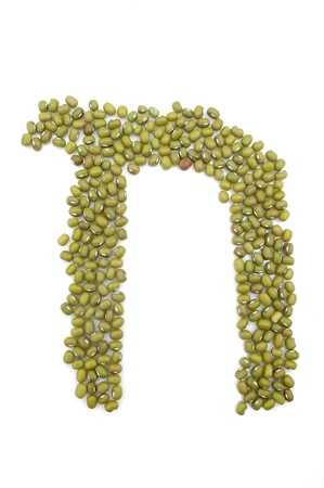 mongo: Mung bean composed of letters of the alphabet
