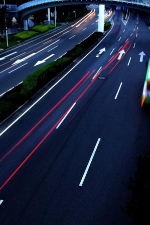 Road traffic at night Stock Photo - 14516705