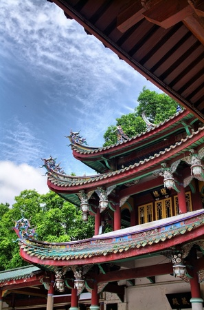 Chinese temple  more than 1000 years of history,  South Putuo Temple in Xiamen, China  photo