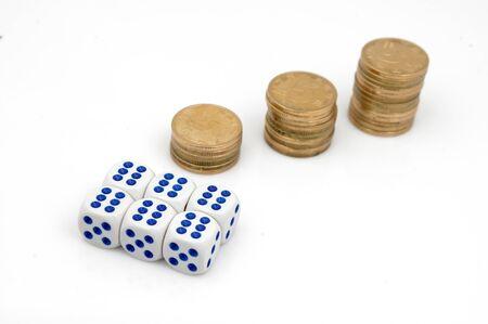 Dice and money Stock Photo - 14462517