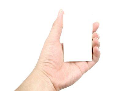 Hand card photo