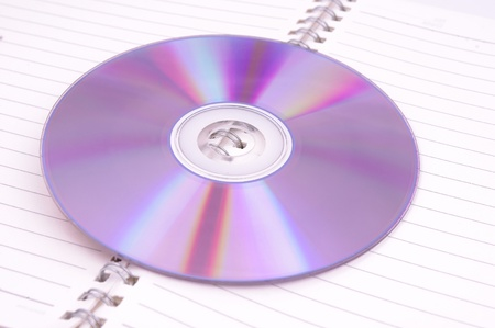 CD-ROM and book photo