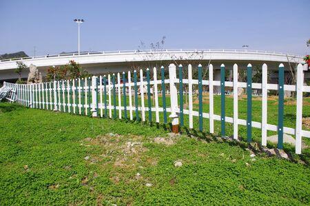 Wood fence photo