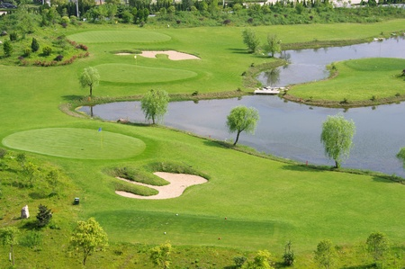 Golf courses and lakes