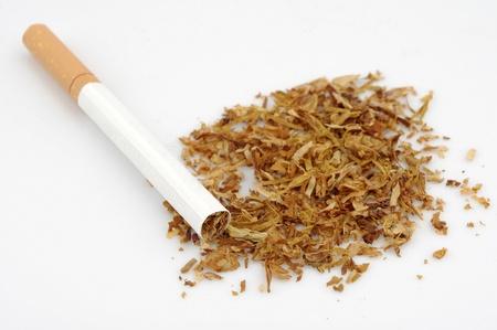 healthcare and medicine: Cigarettes and tobacco Stock Photo