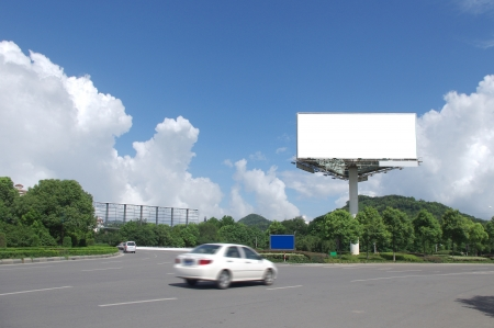In the summer blue sky highways and billboards photo