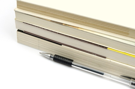 Pens and books  to express the concept of reading Stock Photo - 15126690