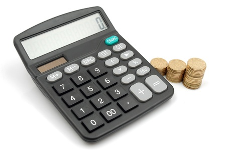 Calculator and money photo