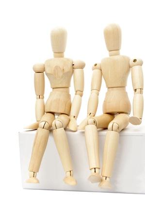 puppet woman: Marioneta de madera Foto de archivo