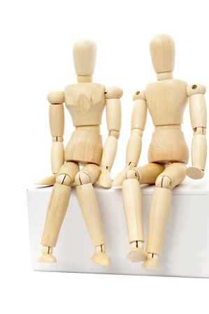 wood figurine: Wooden puppet Stock Photo