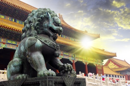Beijing Forbidden City Lions