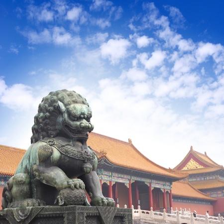 Beijing Forbidden City Lions Stock Photo - 15669677