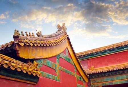 pagoda: Palacio Imperial en Beijing Editorial