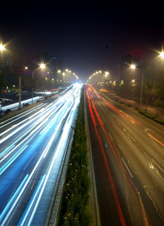 Highway traffic at night Stock Photo - 17168211