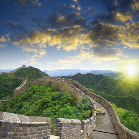 Sunset Great Wall Stock Photo - 15622569