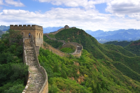 Pechino Grande Muraglia cinese Archivio Fotografico - 15622517