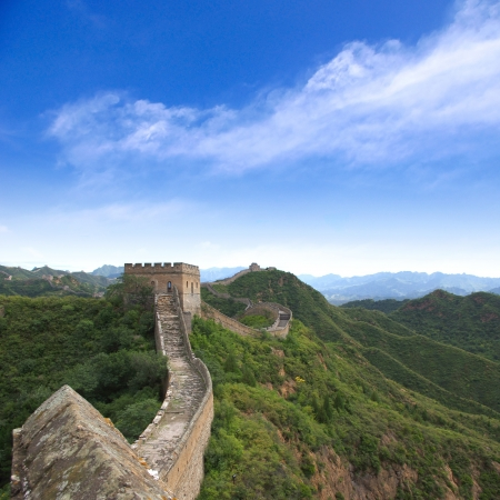 green wall: Beijing Great Wall of China