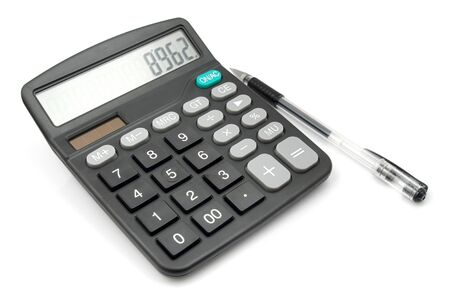 Calculator and pen photo