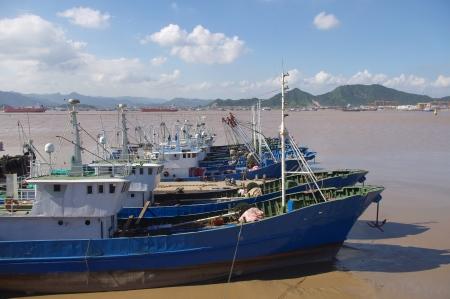 The sea and fishing boats  photo
