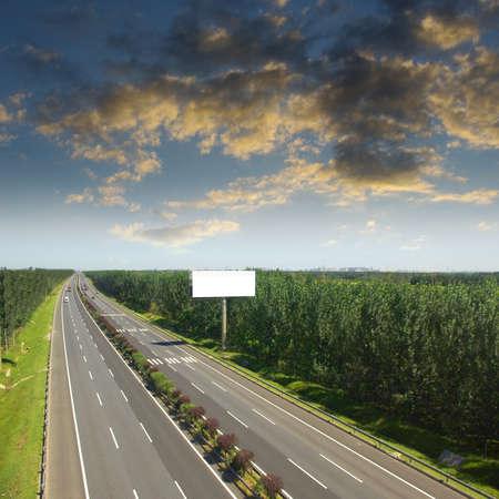 information highway: Sunset Highway billboards