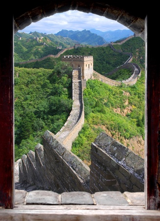 the great wall and the fall: Window Great Wall