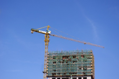 Housing construction crane photo