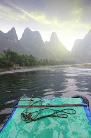 China Guilin Yangshuo rafting photo