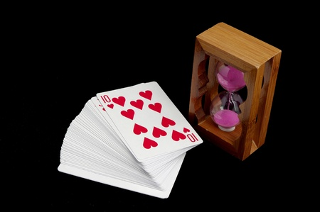 solitaire: Solitaire and hourglass