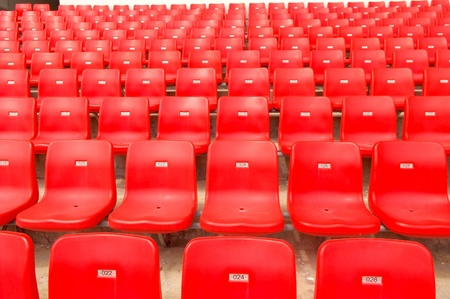 Stadium red seat photo