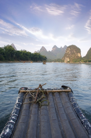 China Guilin Yangshuo rafting photo