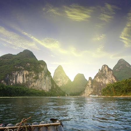 China Guilin Yangshuo rafting Stock Photo - 17474002