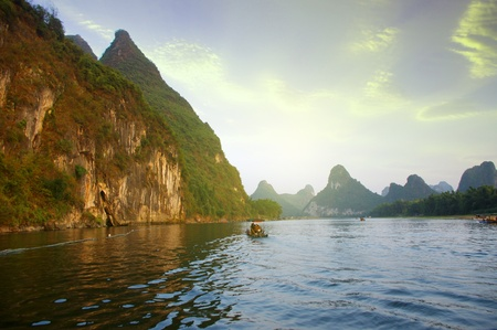 China Guilin Yangshuo rafting Stock Photo - 17474005
