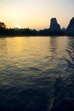 China Guilin Yangshuo rafting Stock Photo - 17474004