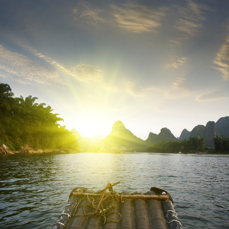 China Guilin Yangshuo rafting Stock Photo - 17474000