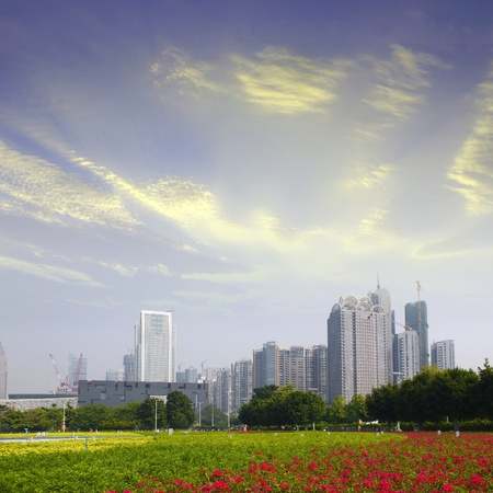 Guangzhou parks and building Stock Photo - 17395011