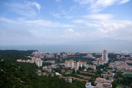 Xiamen view from Gulang-yu island, China Stock Photo - 17395012
