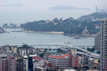 Xiamen view from Gulang-yu island, China Stock Photo - 17394880