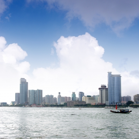 China Xiamen skyline Stock Photo - 17394875