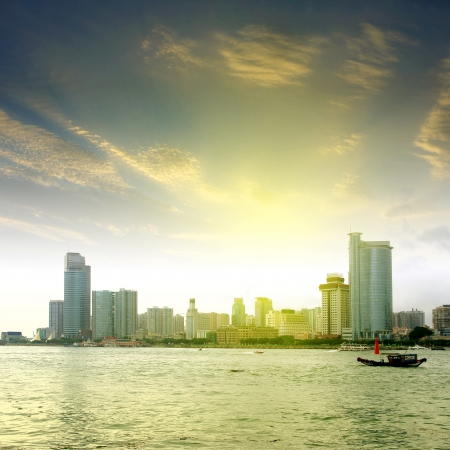 China Xiamen skyline