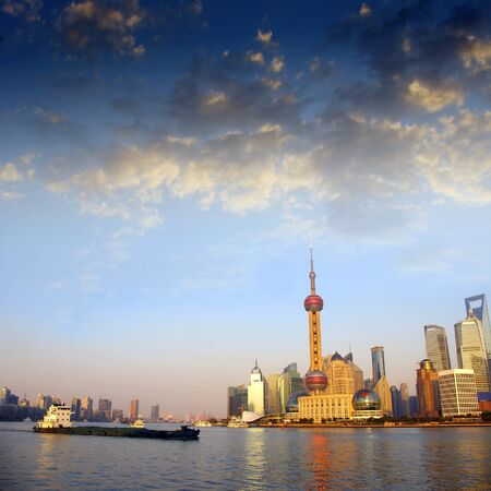 Sunset Shanghai Stock Photo - 17473852