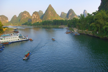 Guilin rafting